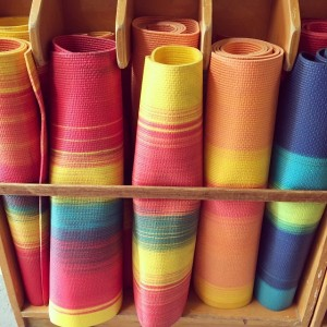 rainbow yoga mats