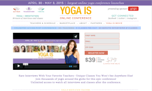 Screen shot yoga is 1
